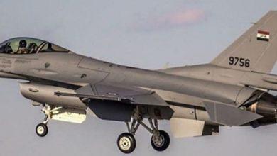 تصویر بمباران داعشیهای مخفی شده در غارهای کوه «حمرین» عراق