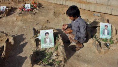تصویر حمله خونین سعودی ها علیه کودکان و زنان یمنی در ماه رمضان