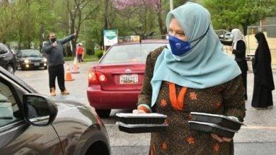 تصویر تشکر جامعه اسلامی بالتیمور آمریکا از افطاریهای نذری عبوری
