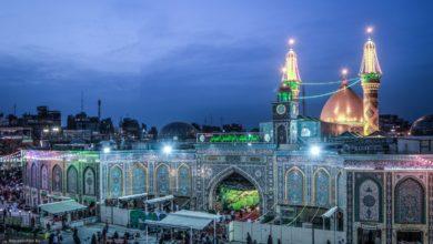 تصویر شادی و سرور به مناسبت میلاد امام حسن مجتبی علیه السلام در بین الحرمین