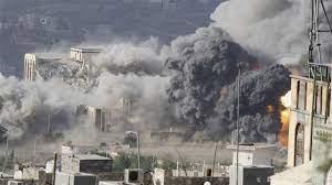 تصویر ادامه حمله جنگندههای ائتلاف سعودی به شهروندان یمنی