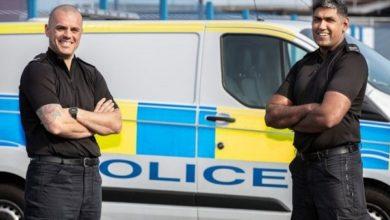 تصویر روزه داری پلیس غیرمسلمان اهل انگلیس