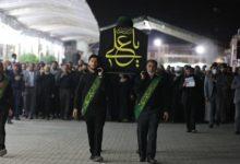 تصویر مراسم تشییع نمادین پیکر امام علی علیه السلام در حرمین امامین عسکریین