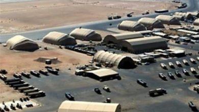 تصویر حمله پهپادی به پایگاه محل استقرار نیروهای آمریکایی در عراق