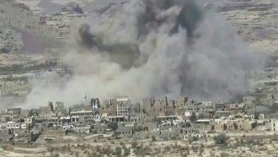 تصویر شهادت و زخمی شدن هفت غیرنظامی یمنی در حمله توپخانهای عربستان به صعده