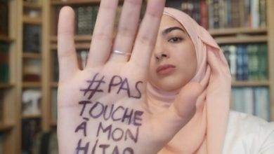 تصویر پویش دفاع از حجاب پس از تصویب قانون جدید در فرانسه