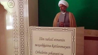 تصویر سخنرانی وکیل مرجعیت شیعه در ترکیه درباره بازسازی بقیع