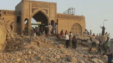 تصویر آغاز بازسازی مرقد حضرت یونس در موصل