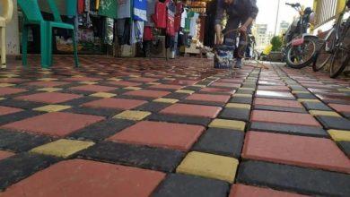 تصویر خیابانهای منتهی به حرم حضرت عباس علیه السلام سنگفرش میشود
