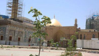 تصویر تکمیل ۸۵ % از صحن صاحب الامر در حرمین عسکریین