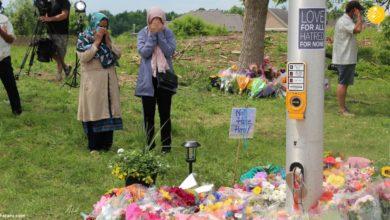 تصویر تشدید اسلام ستیزی در کانادا بعد از حادثه قتل یک خانواده مسلمان