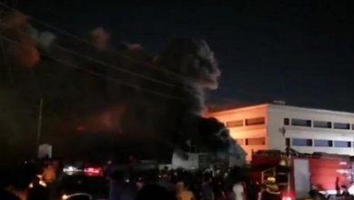 تصویر آتش سوزی مرگبار در بیمارستانی در شهر ناصریه عراق