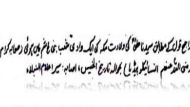 تصویر ادعای موهوم مفتی وهابی پاکستان درباره حضرت علی علیه السلام