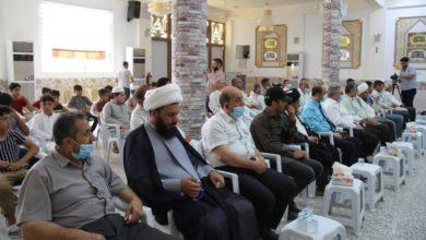 تصویر نشست قرآنی درباره نگرش اسلام نسبت به افراط گرایی در الهندیه عراق