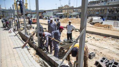 تصویر آغاز مرحله جدید بازسازی صحن الجود در آستان مقدس عباسی