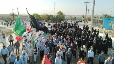 تصویر ادامه پیاده رویی اربعین زائران ایرانی از شهر مقدس مشهد به سمت شهر مقدس کربلا