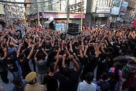 تصویر برپایی مراسم عاشورای حسینی در جامو و کشمیر پس از ۳۰ سال