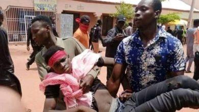 تصویر حمله پلیس نیجریه به عزاداران حسینی