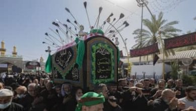 تصویر گزارش تصویری .. تشیع نمادین پیکر مطهر امام حسن مجتبی علیه السلام در کربلا