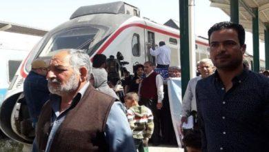 تصویر استفاده از قطارهای عراقی برای انتقال زائران اربعین