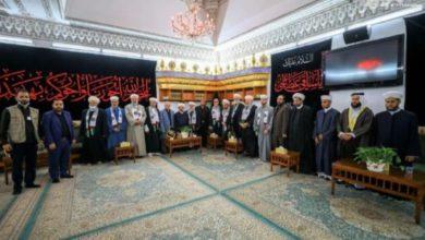 تصویر شیوخ سوریه، لبنان و فلسطین به زیارت حرم مطهر امام علی علیه السلام رفتند