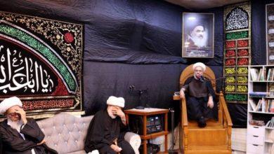 تصویر برگزاری عزای شهادت امام حسن مجتبی علیه السلام در دفتر مرجعیت شیعه در بصره
