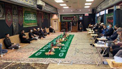 تصویر پهن شدن سفره حضرت رقیه سلام الله در کانادا