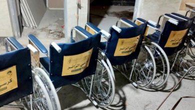 تصویر اجرای پروژه «صندلی زائر» از سوی موسسه مصباح الحسین علیه السلام در ایام اربعین