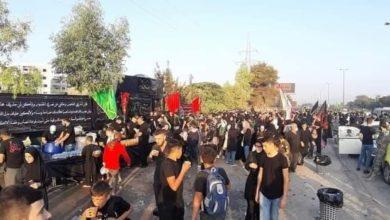 تصویر پیاده رویی شیعیان سوریه از حرم حضرت رقیه تا حرم حضرت زینب سلام الله علیهما