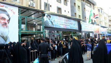 تصویر ادامه خدمت رسانی موکب حسینیه قصر الزهراء سلام الله علیها به زائران اربعین