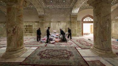 تصویر صحن حضرت زهرا سلام الله علیها در شهر مقدس نجف آماده استقبال از زائران اربعین