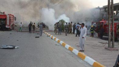 تصویر انفجار سه بمب دست ساز در غرب شهر مقدس کربلا