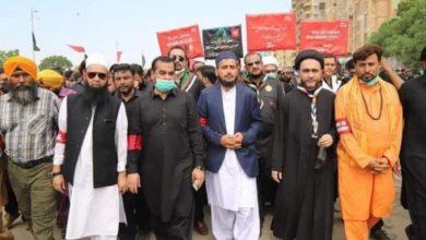 تصویر تصاویری دیدنی از پیاده رویی و عزدارای اربعین در پاکستان