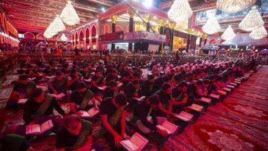 تصویر ششمین محفل قرآنی سالانه ویژه دانشجویان و دانش آموزان در صحن حرم حضرت عباس علیه السلام