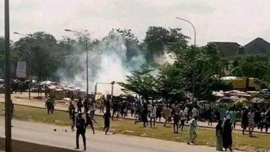 تصویر حمله پلیس نیجریه به عزاداران أربعین حسینی