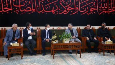 تصویر حضور سفیر فرانسه در حرم مطهر امیرالمؤمنین علی علیه السلام