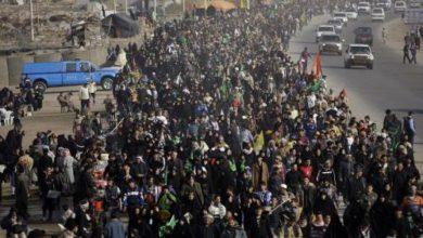 تصویر آغاز انتقال زائران اربعین حسینی در عراق