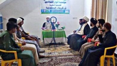 تصویر برگزاری نشست فکری مؤسسه أنوار الجوادین علیهما السلام در شهر مقدس کربلا