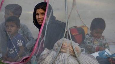 تصویر آزار پناهجویان افغانستانی در انگلیس توسط گروههای راست افراطی