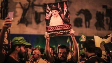 تصویر پیروزی جریان صدر در انتخابات پارلمانی عراق