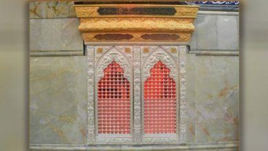 تصویر نصب ضریح شهدای طف در حرم مطهر حسینی