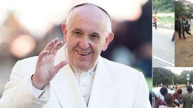 تصویر انتقاد از بیتوجهی پاپ به کشتار شیعیان از سوی حکومت نیجریه