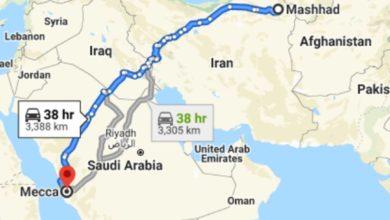 تصویر پیشنهاد ساخت اتوبان شهر مقدس مشهد به شهر مقدس مکه در مذاکرات ایران و عربستان