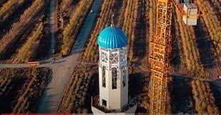 تصویر مرتفع ترین مسجد آسیای میانه تا پایان ۲۰۲۱ در قزاقستان افتتاح می شود